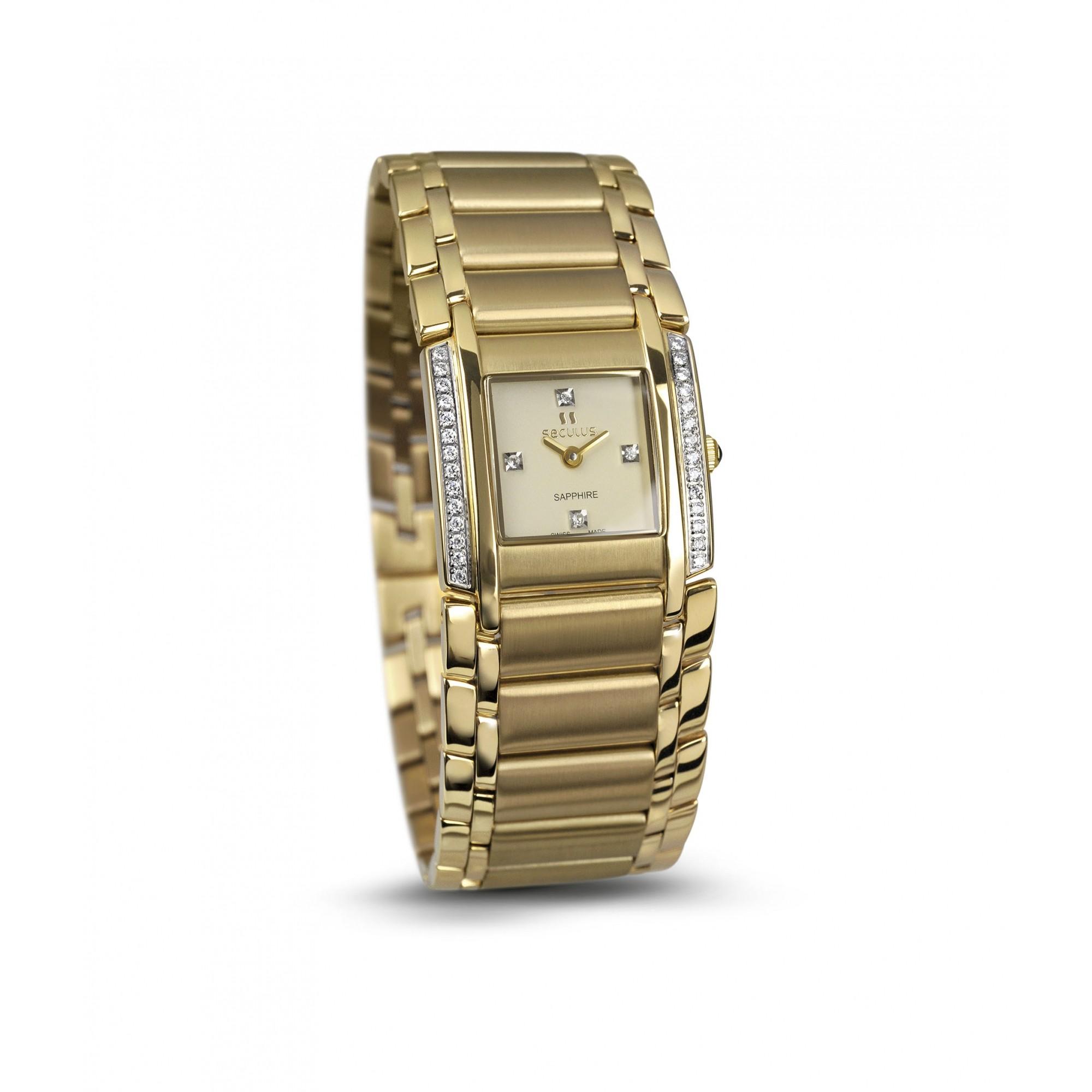 Relógio Feminino Seculus Swiss Made Pulseira de  Aço Coleção Design 16742762MYSTY