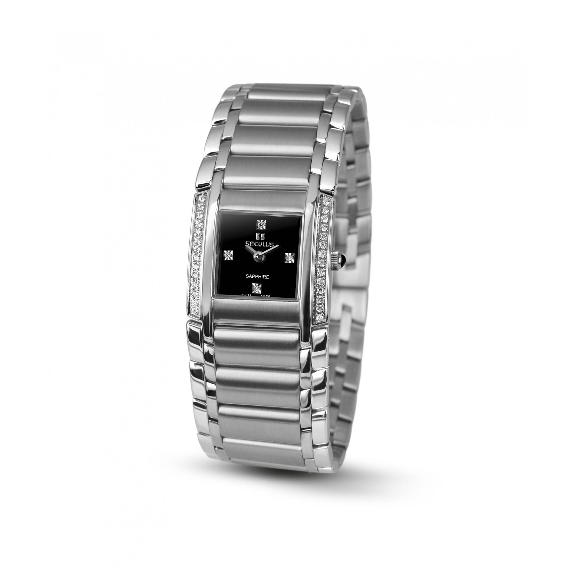 Relógio Feminino Seculus Swiss Made Pulseira de  Aço Coleção Design 16742762MSSSTB