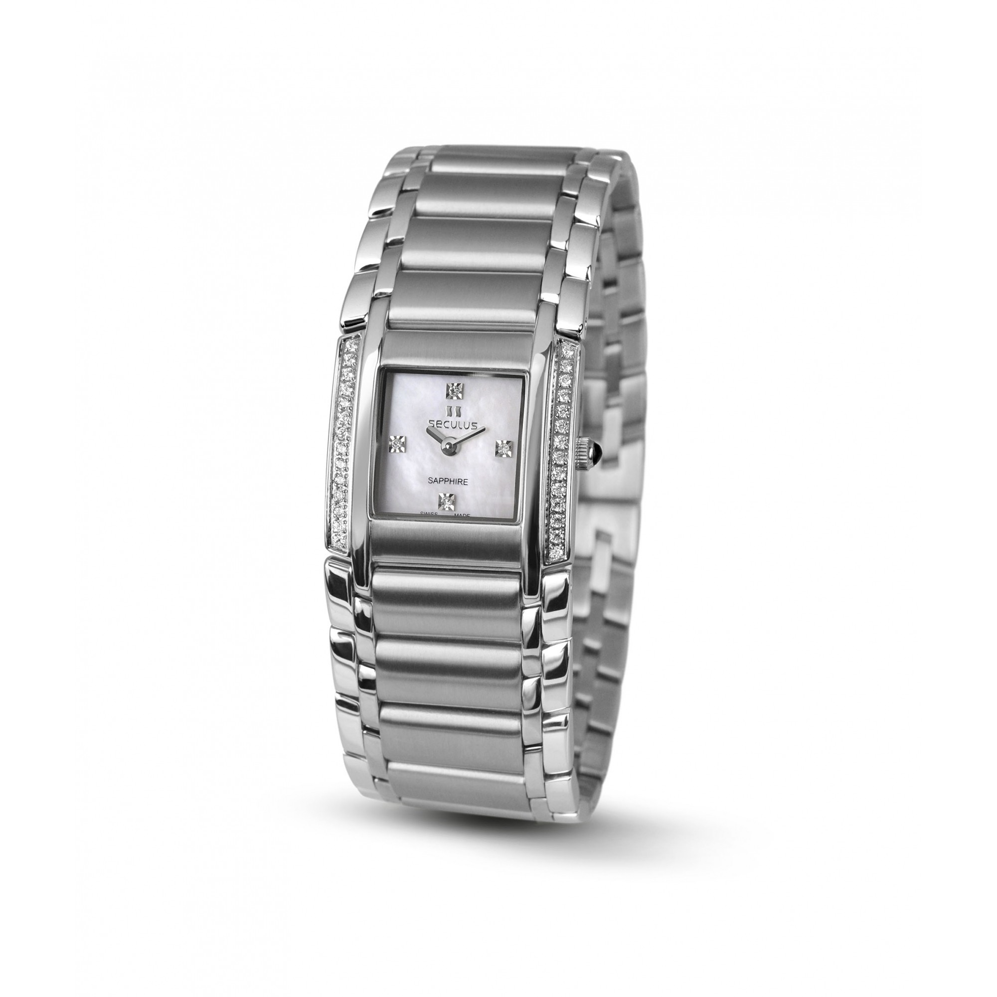 Relógio Feminino Seculus Swiss Made Safira 16742762MSSSTW
