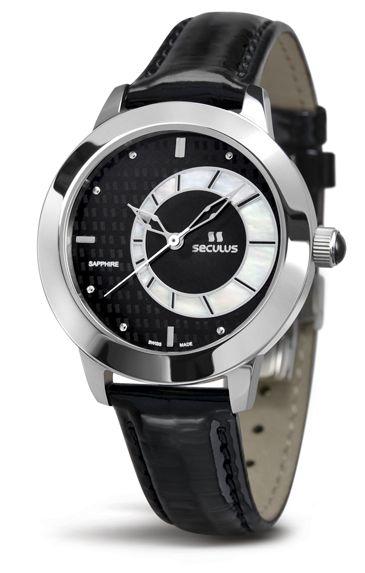 Relógio Feminino Seculus Swiss Made Safira 167121063LBSSB