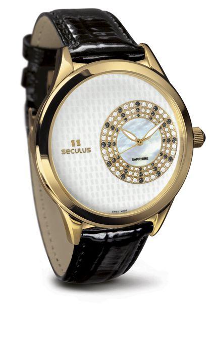 Relógio Feminino Seculus Swiss Made Safira 167221063LBYW