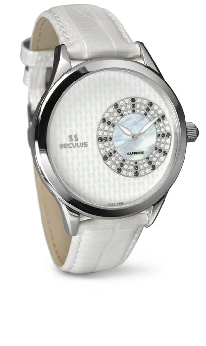 Relógio Feminino Seculus Swiss Made Safira 167221063LWSSB