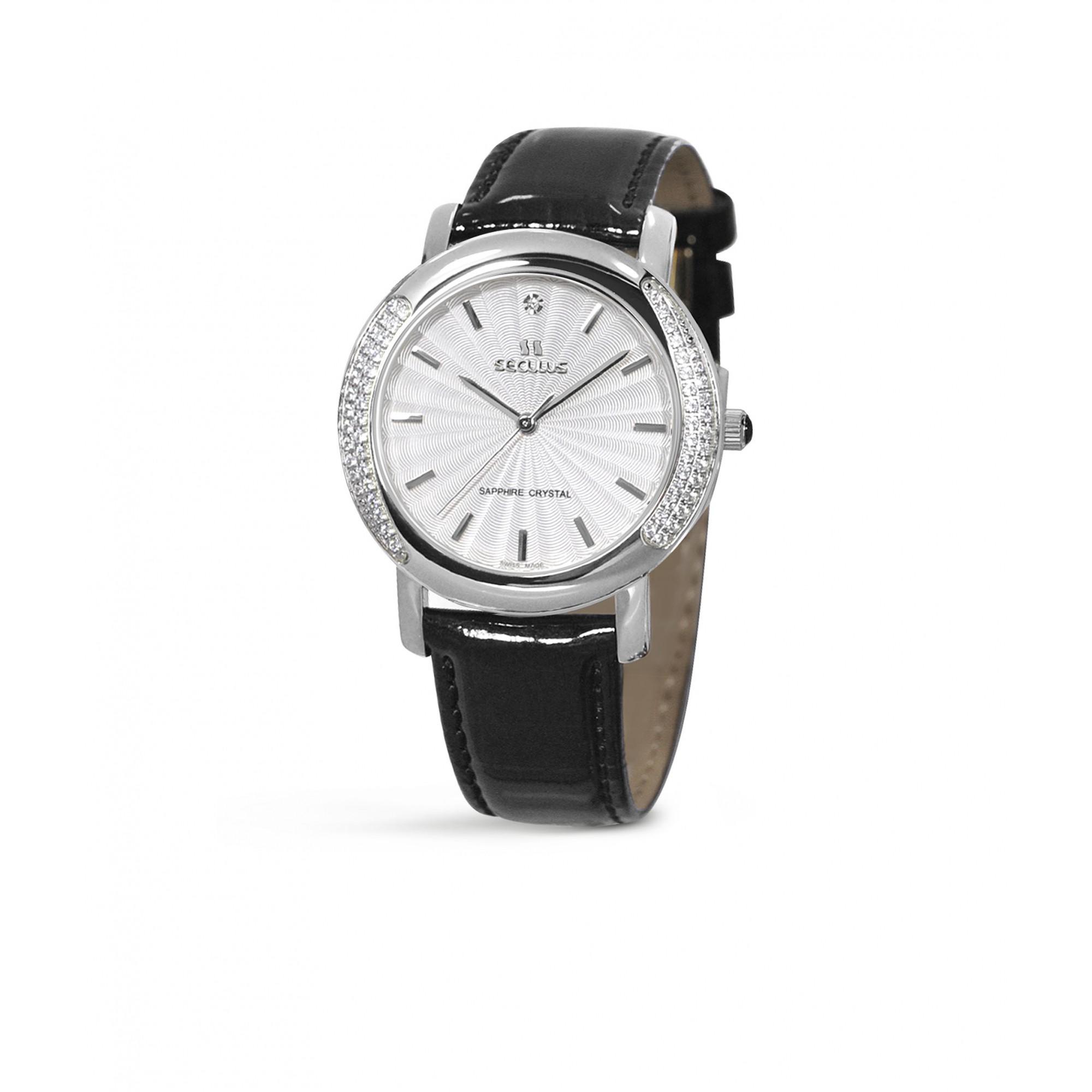 Relógio Feminino Seculus Swiss Made Pulseira de  Couro Coleção Design 167321063LBSSW