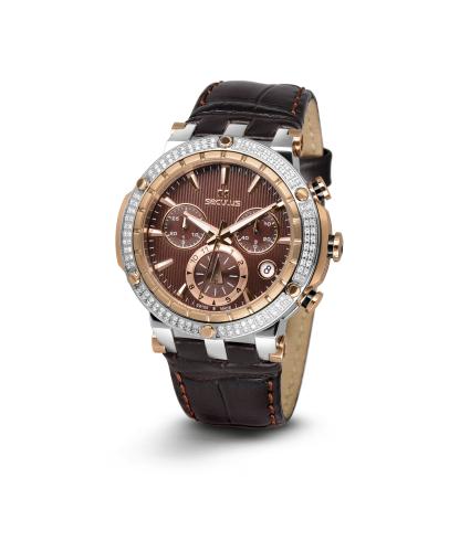 Relógio Feminino Seculus Swiss Made Safira 16822503L2STBR