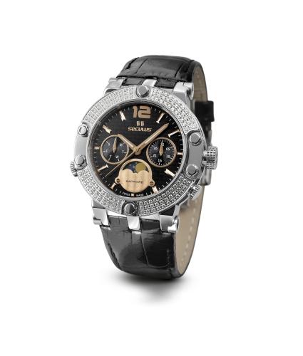 Relógio Feminino Seculus Swiss Made Pulseira de  Couro Coleção Emirette 16905706LBSTBR