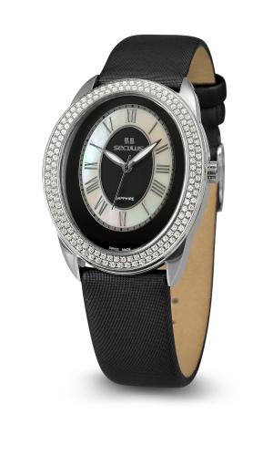 Relógio Feminino Seculus Swiss Made Pulseira de  Couro Coleção Diana 170151063LBSSB