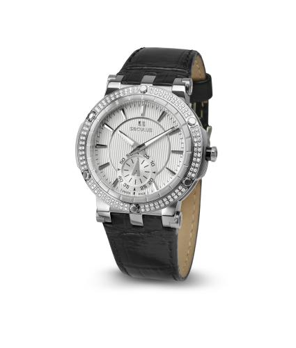 Relógio Feminino Seculus Swiss Made Pulseira de  Couro Coleção Sultana Flat 170251069LBSSW