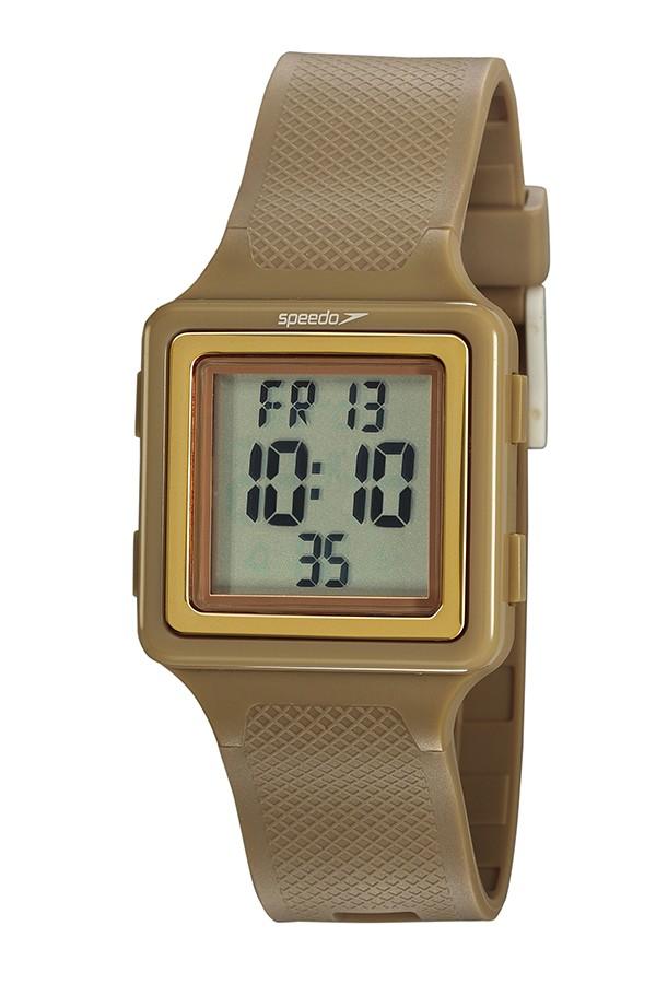 Relógio Feminino Speedo Pulseira de Poliuretano Rosa Fundo LCD Positivo 80650L0EVNP3
