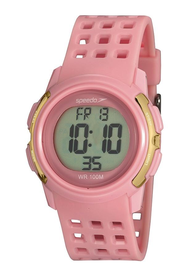 Relógio Feminino Speedo Pulseira de Poliuretano Rosa Fundo LCD Positivo 80652L0EVNP2