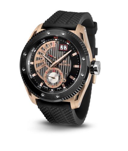 Relógio Masculino Esportivo Seculus Swiss Made 9535704SILRBBB Pulseira de poliuretano e vidro de Safira com 02 anos de Garantia