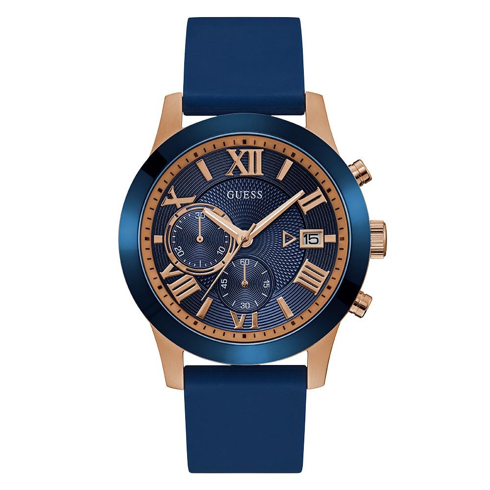 Relógio Masculino Guess Pulseira de Esportivo Azul Fundo Azul 92722GPGDRU2