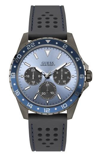 Relógio Masculino Guess Pulseira de Esportivo Cinza Fundo Azul 92698GPGSSU6
