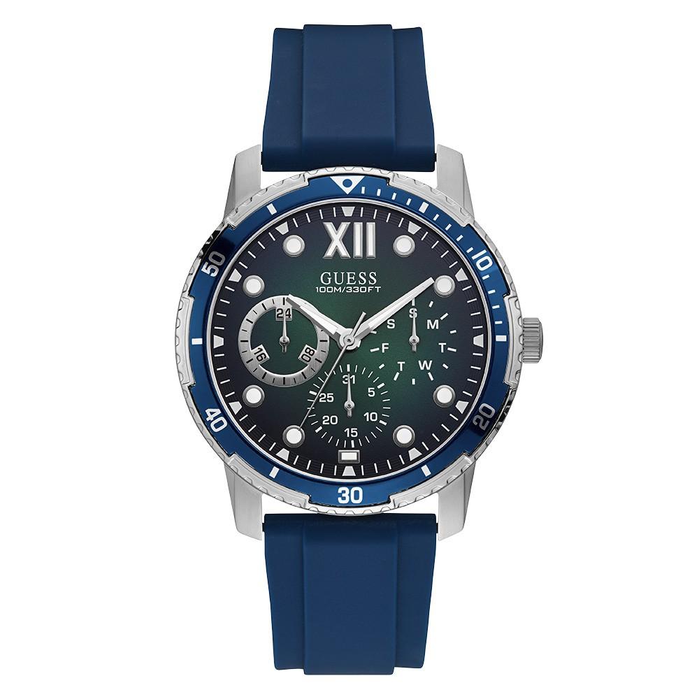 Relógio Masculino Guess Watches Pulseira de Esportivo Azul Fundo Verde