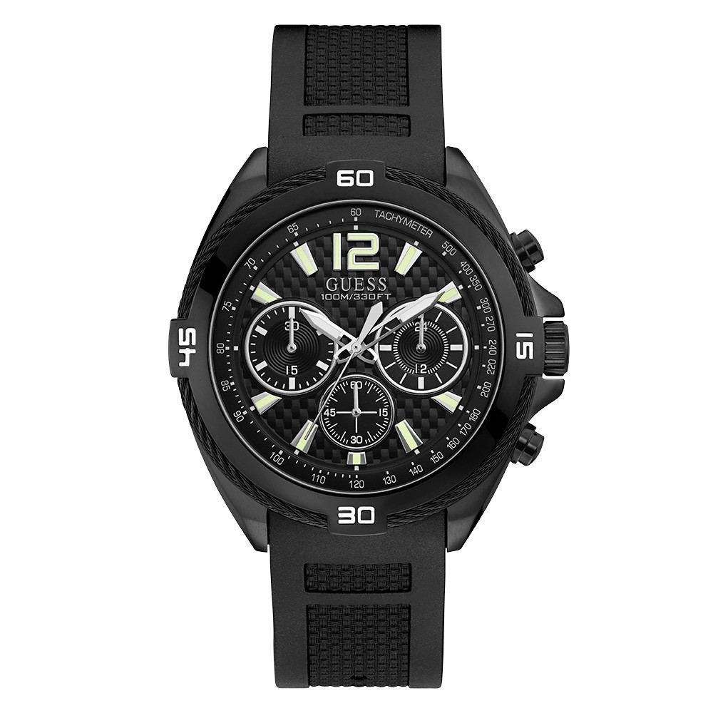 Relógio Masculino Guess Pulseira de Esportivo Preto Fundo Preto 92733GPGSPU1