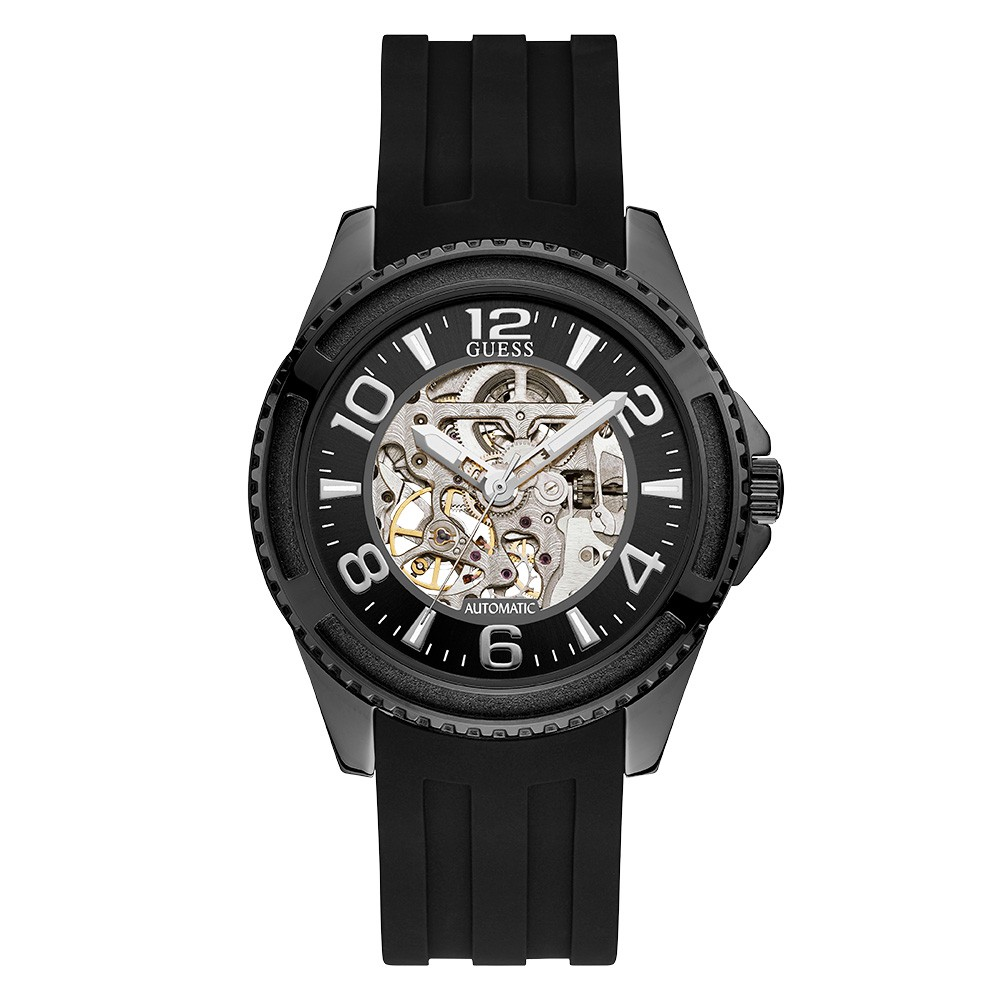 Relógio Masculino Guess Pulseira de Esportivo Preto Fundo Preto 92736GPGSPU1