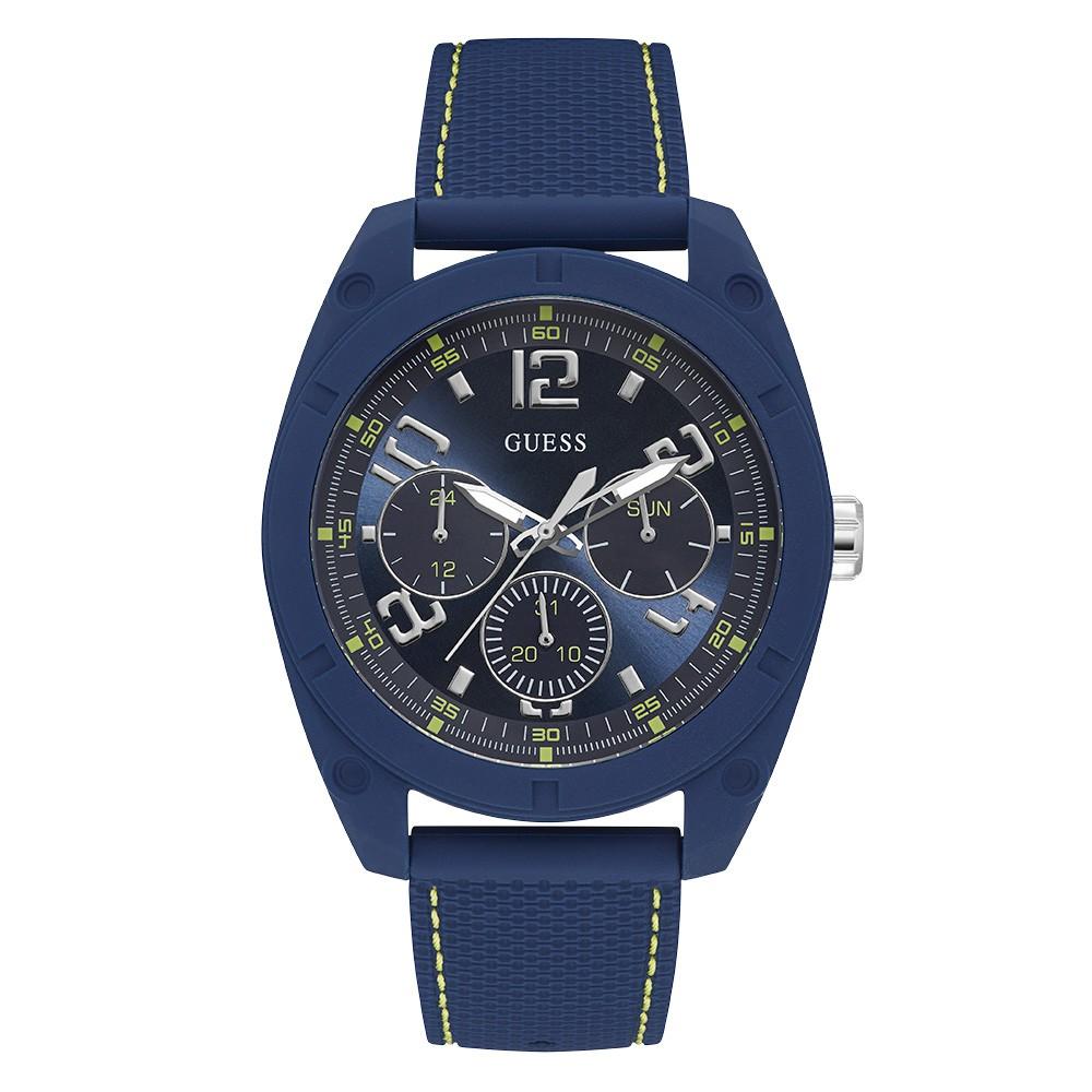 Relógio Masculino Guess Pulseira de Esportivo Azul Fundo Azul 92747GPGSEU1