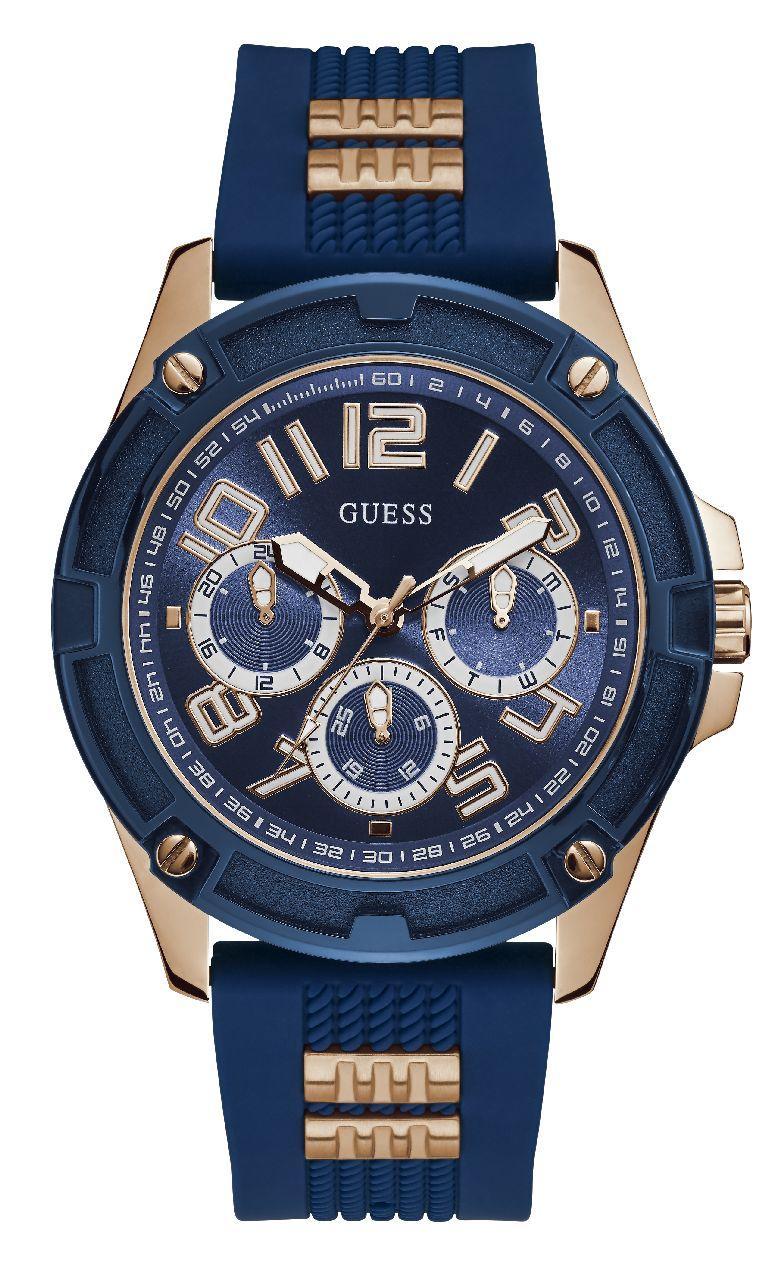 Relógio Masculino Guess Pulseira de Esportivo Azul Fundo Azul GW0051G3