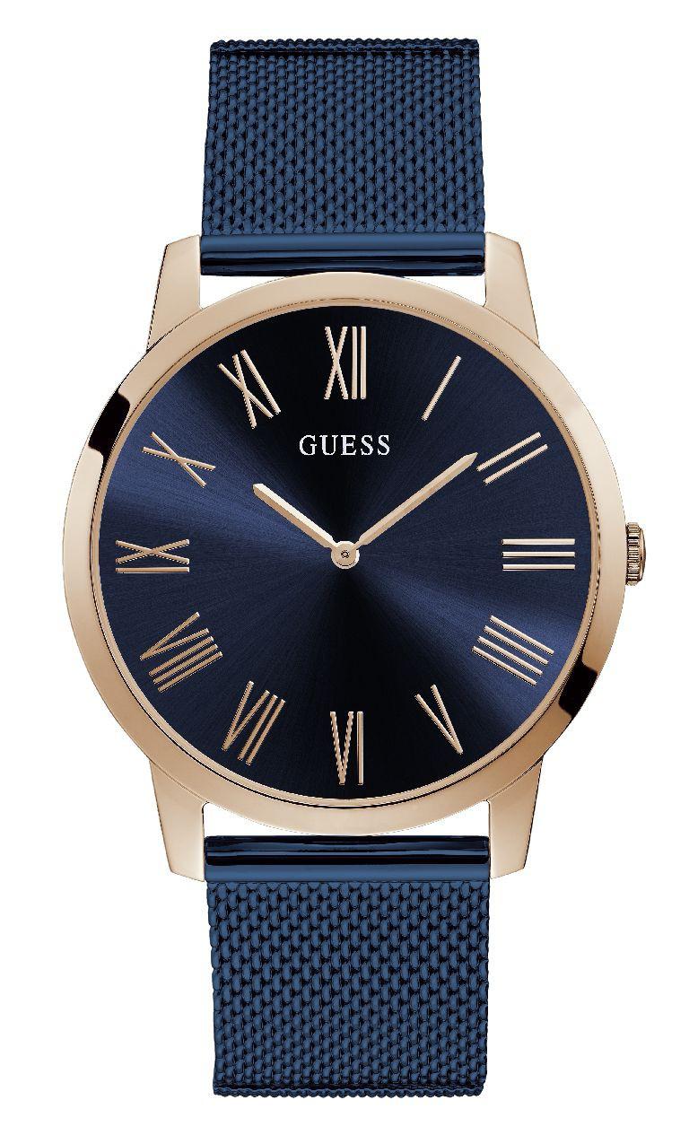 Relógio Masculino Guess Pulseira de Aço Azul Fundo Azul 92731GPGDVA3