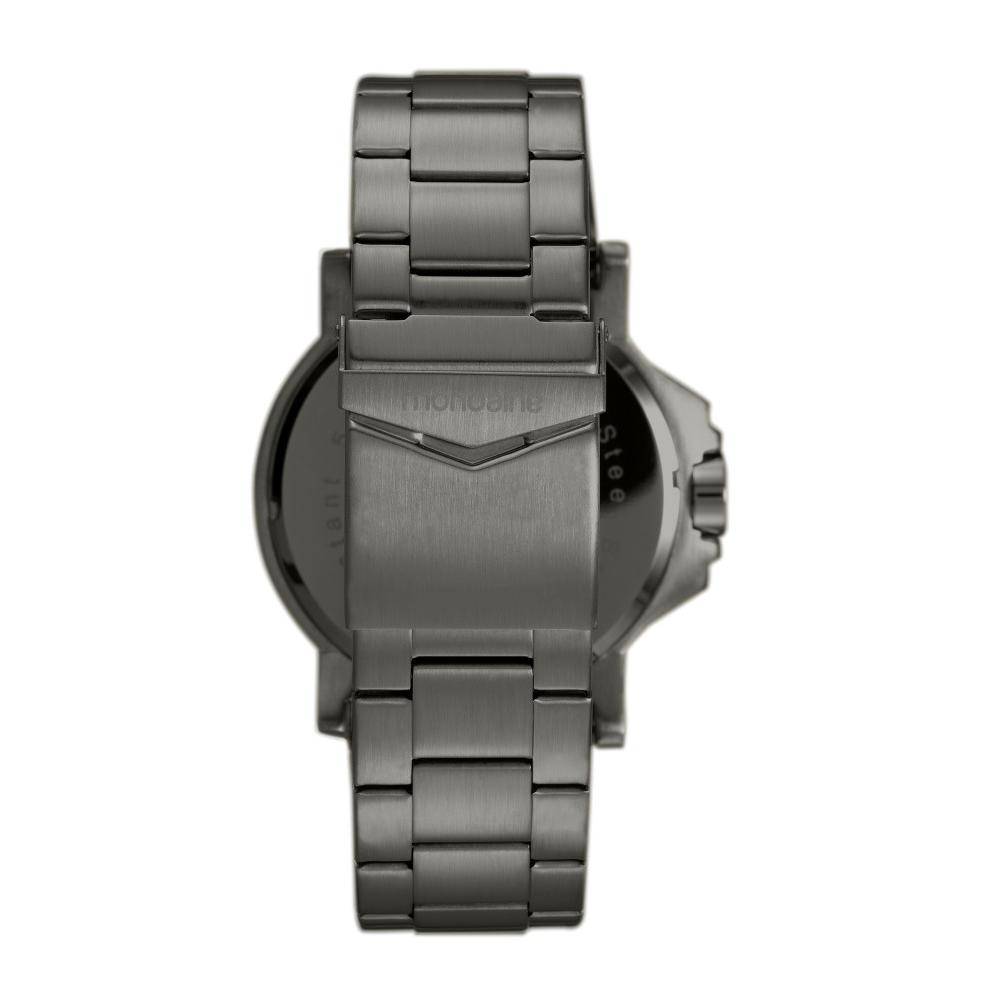 Relógio Masculino Mondaine Pulseira de Aço Inoxidável Preto Fundo Preto 99233GPMVPS2