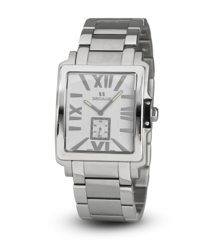 Relógio Masculino Seculus Swiss Made 449211069MSSSI Pulseira de aço e vidro de Safira com 02 anos de Garantia