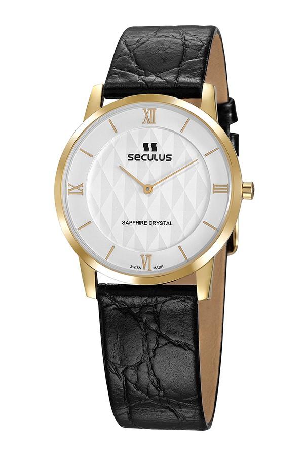 Relógio Feminino Seculus Swiss Made Safira 1018G11062LYWR