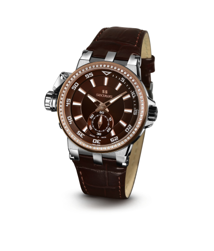 Relógio Feminino Seculus Swiss Made Safira 17031069L2RSTB