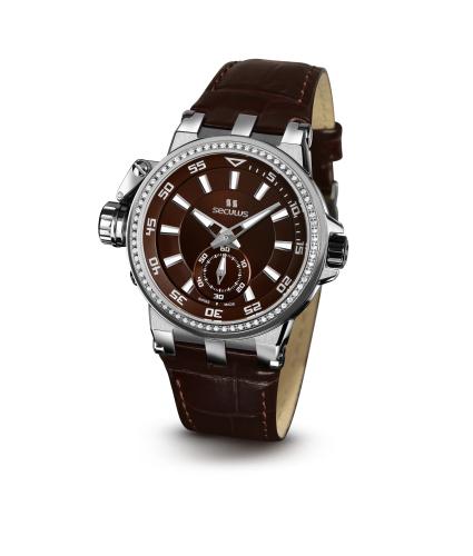 Relógio Feminino Seculus Swiss Made Safira 17031069LBRSSA