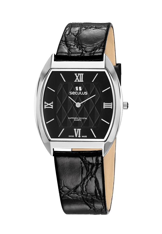 Relógio Feminino Seculus Swiss Made Pulseira de  Couro Coleção Flatline Fascination 44531106LBSSBR