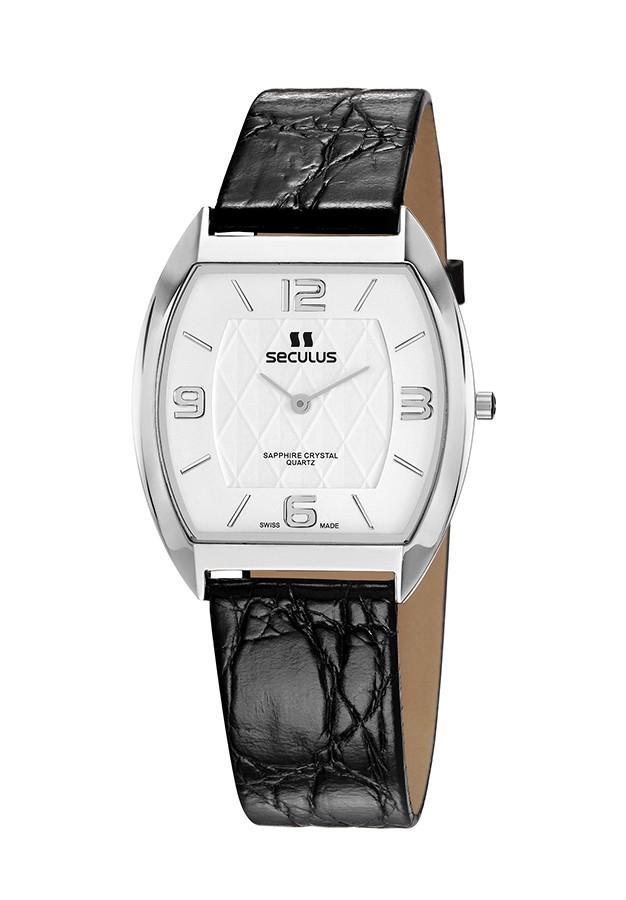 Relógio Feminino Seculus Swiss Made Pulseira de  Couro Coleção Flatline Fascination 44531106LBSSWA