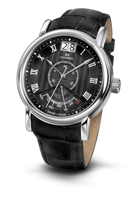 Relógio Masculino Seculus Swiss Made Pulseira de  Couro Coleção Pythagoras 450637003LBSSB