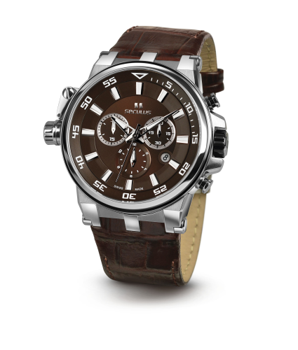 Relógio Masculino Seculus Swiss Made Safira 4510503LBRSSBR