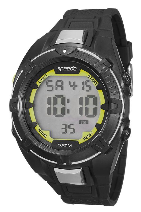 Relógio Masculino Speedo Pulseira de Poliuretano Outros Fundo LCD Positivo 81131G0EVNP3