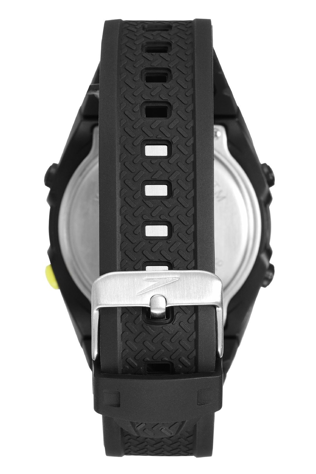 Relógio Masculino Speedo Pulseira de Poliuretano Preta Fundo LCD Positivo 81131G0EVNP1