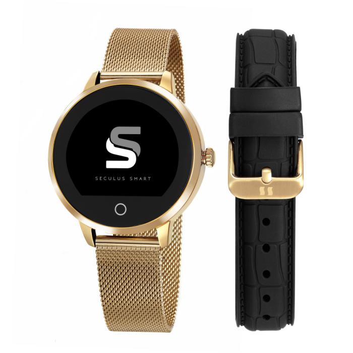 Relógio Smartwatch Seculus Feminino Dourado 79003Lpsvda2 Fashion