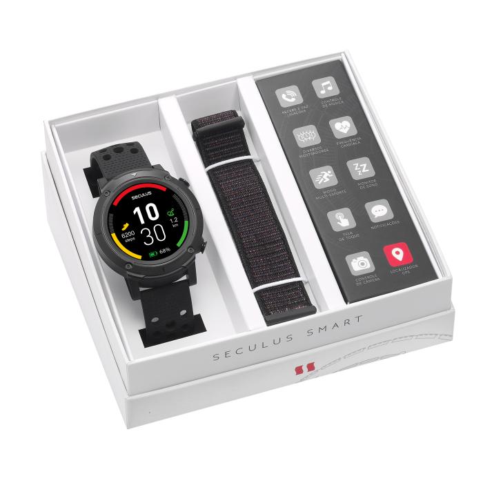 Relógio Smartwatch Seculus Masculino Gps 79004G0Svnv3 Esporte