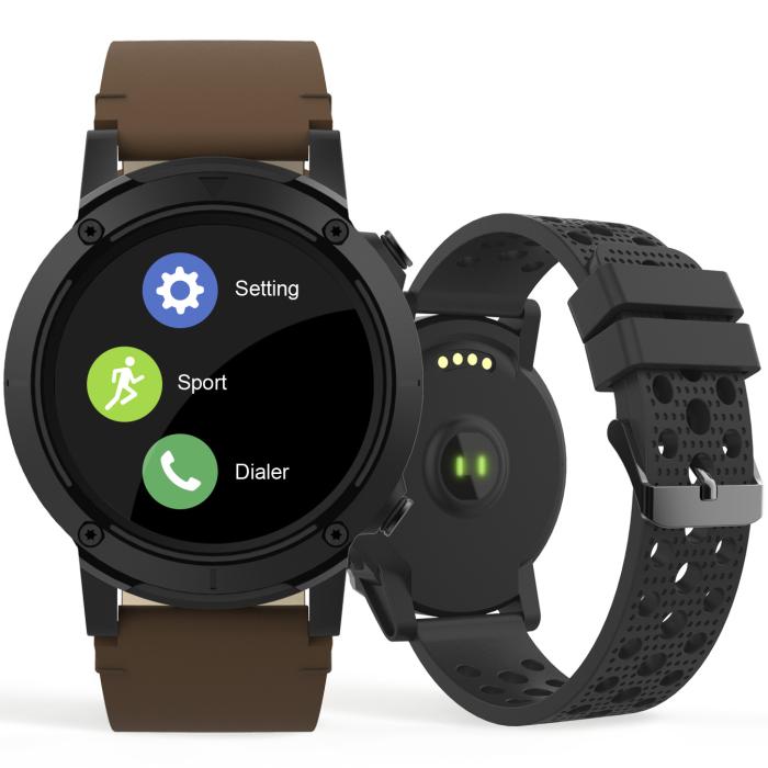 Relógio Smartwatch Seculus Masculino Gps Marrom 79004G0Svnv2 Esporte