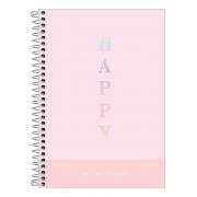 Caderno Espiral Capa Plástica Colegial 10 Matérias Happy 160 Folhas - Tilibra