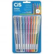 Caneta CIS Gelyx 1.0 Gel - Kit com 10 cores