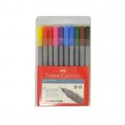 Caneta FABER-CASTELL Grip Fine Pen Estojo com 10 cores