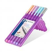 Caneta STAEDTLER Triplus 334 Pastel Color com 6 Unidades - 0.3mm