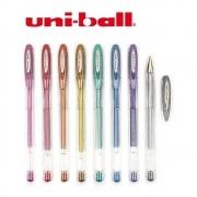 Caneta UNI-BALL Noble Metal Estojo com 8 Cores 0,8mm
