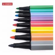Estojo Mini Stabilo pen 68 com 12 cores