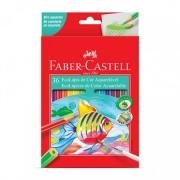 LÁPIS DE COR FABER CASTELL AQUARELA COM 36 CORES