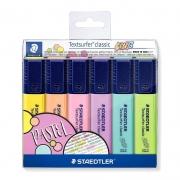 Marca Texto Staedtler Textsurfer Classic Pastel com 6