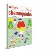 Papel sulfite A4 75G Verde PT0100 Chamequinho-116947