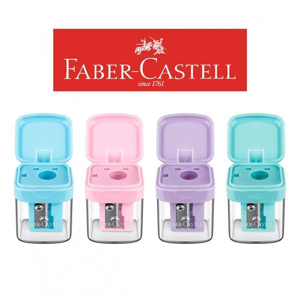 Apontador com Depósito Pastel Faber Castell MiniBox