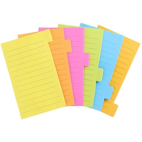 Bloco de Anotações Pautado Divider Notes 6 Cores - Eagle