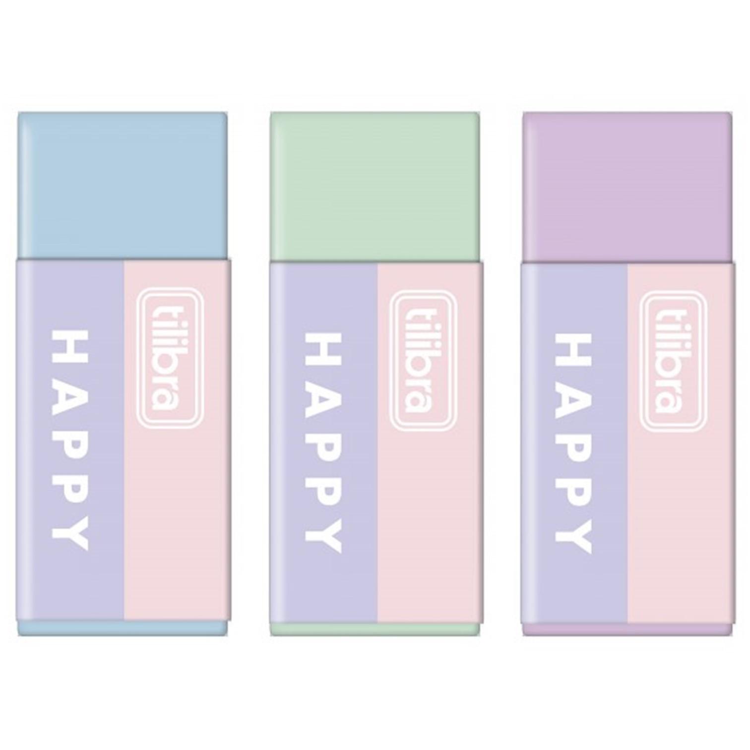 Borracha Tilibra Happy Pastel Cores - UN