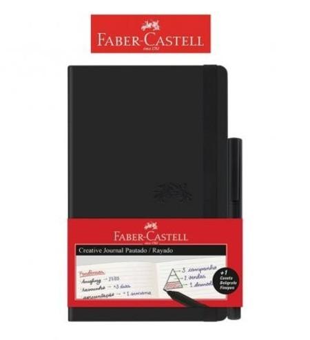 Caderneta PRETO Creative Journal Pautado Pt 84 fls - Faber Castell