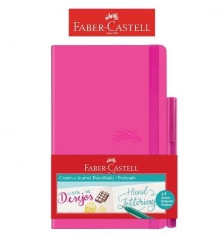 Caderneta ROSA Creative Journal Pontilhado Rs 84 fls - Faber Castell